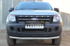 Ford Ranger 2012 Защита переднего бампера d76 (секции)  FRZ-001295